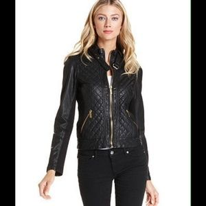 Michael Michael Kors quilted black Motto Jacket  L